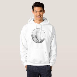 Moonlight Howl Basic Hooded sweatshirt, white Hoodie