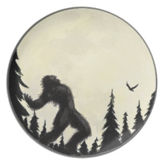 Moonlight Howl Melamine Plate