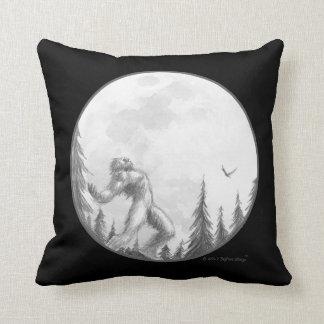 Moonlight Howl pillow in black