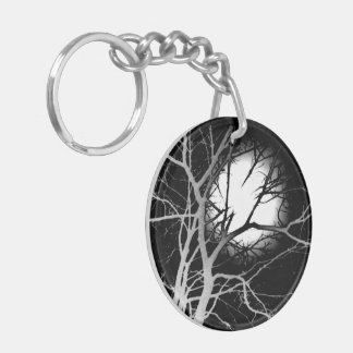 Moonlight Double-Sided Round Acrylic Key Ring