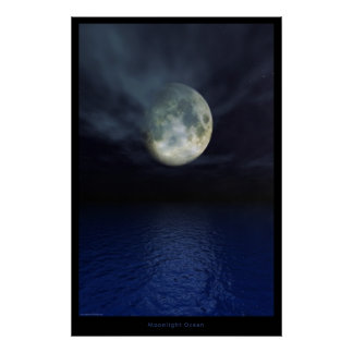 Moonlight Ocean -Special Edition Poster