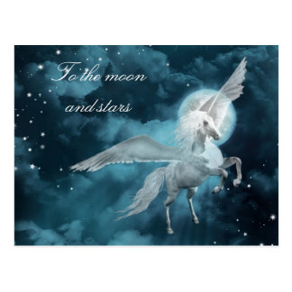 Moonlight pegasus postcard