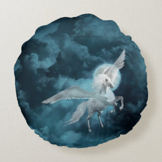 Moonlight pegasus round cushion