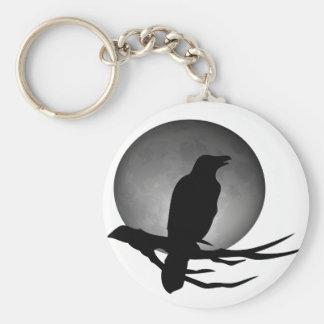 moonlight raven basic round button key ring