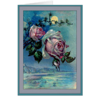 Moonlight Roses A Greeting Card