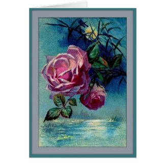 Moonlight Roses B Greeting Card