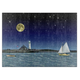Moonlight Sail Cutting Board