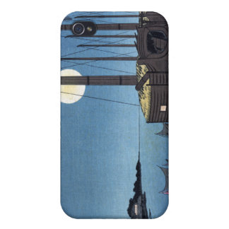 Moonlight Scene on a River With Boats, Hiroshige iPhone 4/4S Covers
