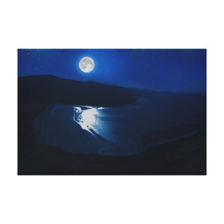 Moonlight-Scotland Canvas Print