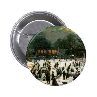 Moonlight Skating in Central Park Button