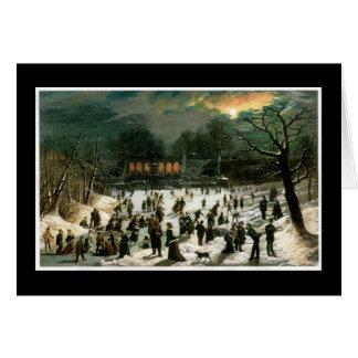 Moonlight Skating in Central Park Card