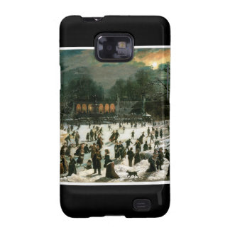 Moonlight Skating in Central Park Samsung Galaxy SII Cases