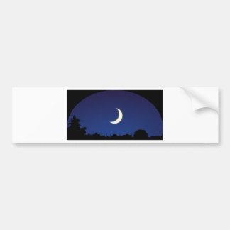 Moonlight sky bumper sticker