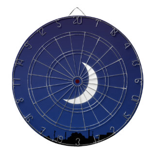 Moonlight sky dartboard