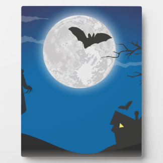 Moonlight sky plaque