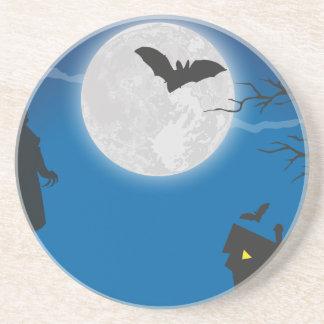 Moonlight sky sandstone coaster