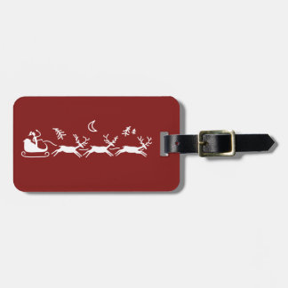 Moonlight Sleigh Ride Luggage Tag