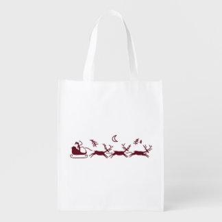 Moonlight Sleigh Ride Reusable Grocery Bag