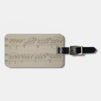 Moonlight Sonata Bag Tag