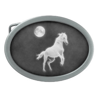 Moonlight Stallion Belt Buckles