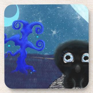 Moonlight stargazing coaster