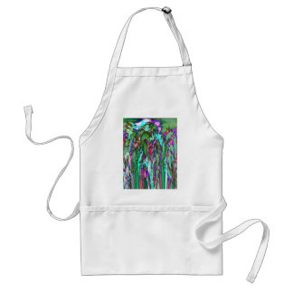 Moonlight through feathered grasses standard apron