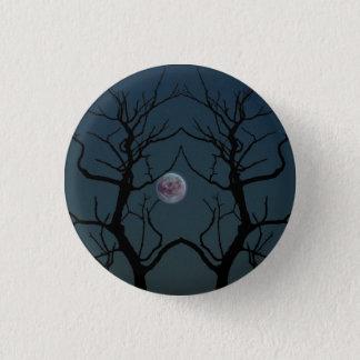 Moonlight Tree Silhouette 3 Cm Round Badge