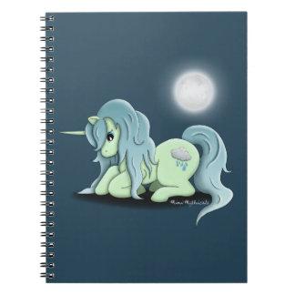 Moonlight Unicorn Spiral Notebook