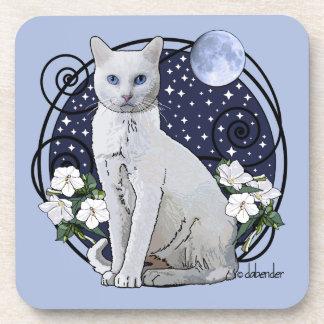 Moonlight, White Cat and Mirabilis Coaster