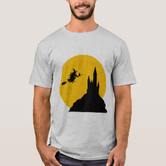 Moonlight Witch happy halloween men t-shirt