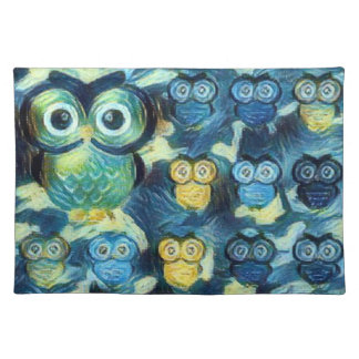 Moonlighting Owls Placemat