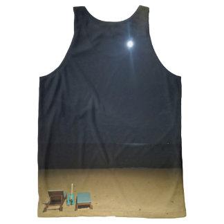moonlit beach All-Over print tank top