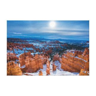 Moonlit Bryce Canyon Canvas Print