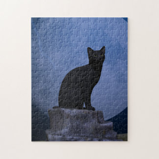Moonlit Cat Jigsaw Puzzle