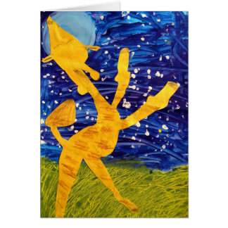 Moonlit Giraffe - Artwork by Carter - Age 7 Card