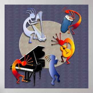 Moonlit Jazz Session Print