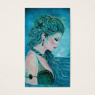 Moonlit Mermaid business cards By Renee Lavoie