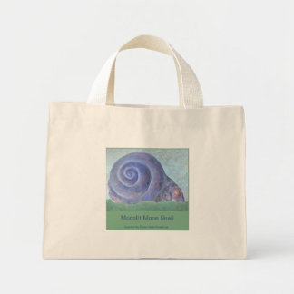 Moonlit Moon Snail Mini Tote Bag