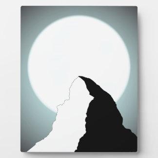 Moonlit Mountain Plaque