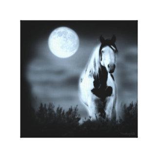 Moonlit Mystical Stallion Shaman Wrapped Canvas