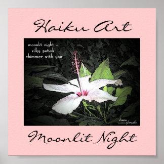 Moonlit Night Haiku Art Print