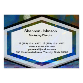 Moonlit night with ships sailing on the ocean business cards