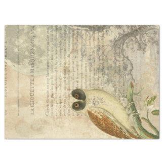 Moonlit Owl Decoupage Tissue Paper