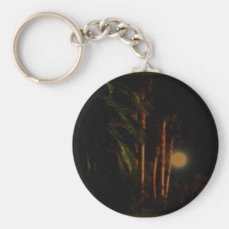 Moonlit palm trees keychain