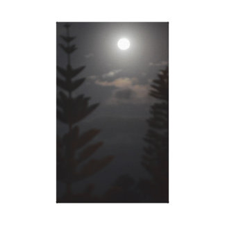 Moonlit Pines Canvas Print