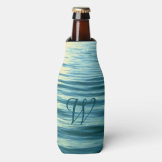 Moonlit Sea Monogrammed Bottle Cooler