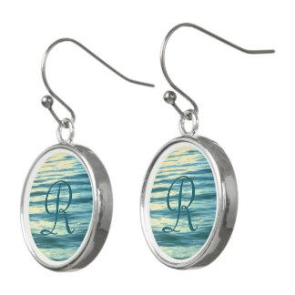Moonlit Sea Monogrammed Earrings