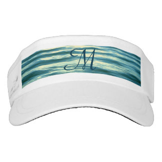 Moonlit Sea Monogrammed Visor