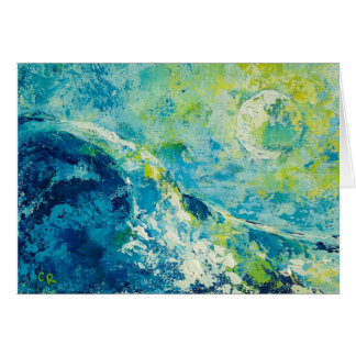 """Moonlit Surf"" by Chris Rice Note Cards"