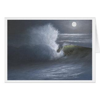 Moonlit Wave - Greeting Card